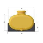Автоцистерна 20м³ химстойкая из стеклопластика